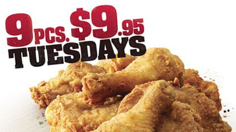 9 For 9.95 Kfc Tuesdays