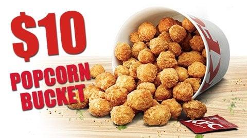 $10 Popcorn Bucket Deal Kfc