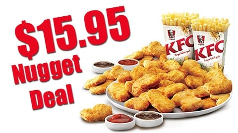 $15.95 Kfc Nugget Deal Australia