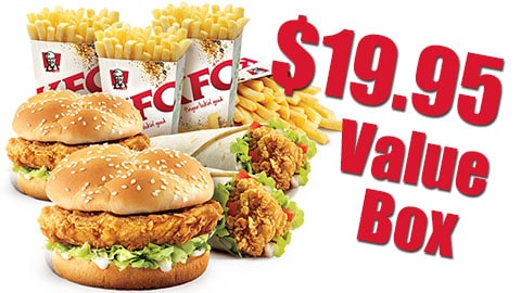 $19.95 Kfc Value Box Deal