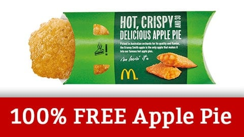 Free Apple Pie Voucher Australian Maccas 2018