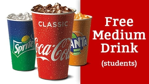 Free Medium Drink @ Mcdonalds Australian Students