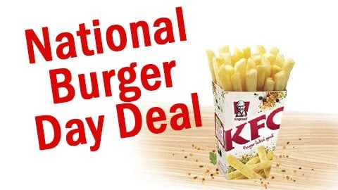 Kfc National Burger Day Deal