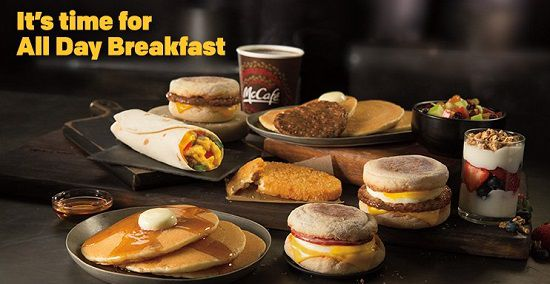 Mcdonald's All Day Breakfast Menu In Australia