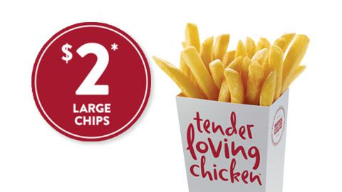 $2 Large Chips Deal At Red Rooster