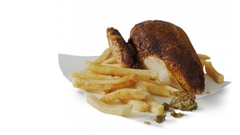 Quarter Chicken And Small Chips For $5 At Red Rooster