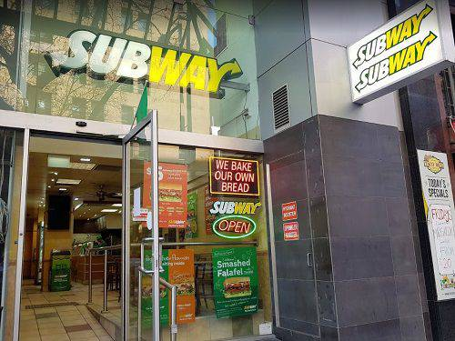 A Subway Store In The Melbourne Cbd