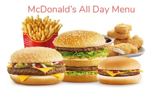 Mcdonald's All Day Menu