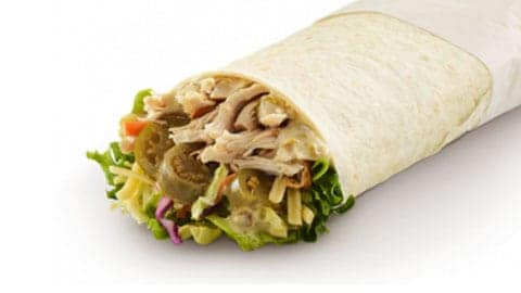 Spicy Jalapeno Chicken Wrap For $8.49