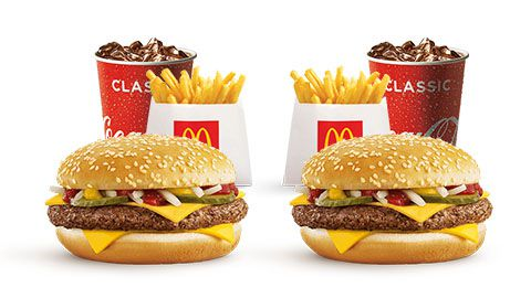 2 Small Quarter Pounder Meals For $9