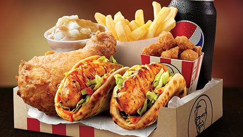 Baked Sliders Boxed Meal Deal At Kfc For $11.95