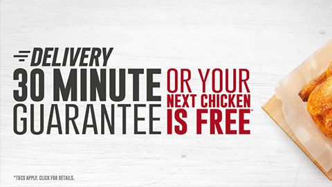 Red Rooster Promtotion 30 Minute Delivery Or Food Is Free