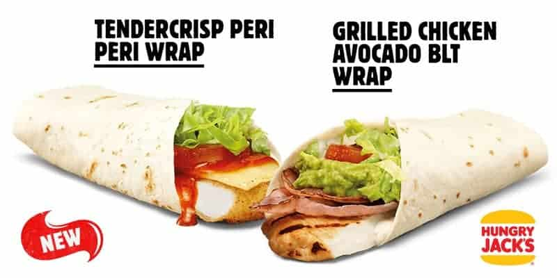New Chicken Wraps On Hungry Jack's Menu
