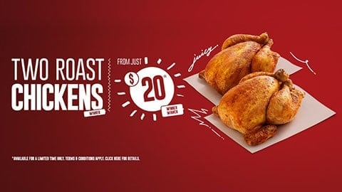 2 Roast Chicken For $20 At Red Rooster