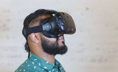 Man Using The Htc Vive