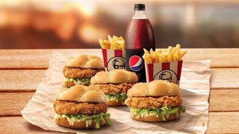 $20.95 Family Burger Box Kfc Voucher