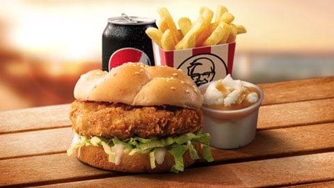 $7.45 Burger Combo Deluxe Kfc Deal